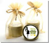 About To Pop Mommy Green - Baby Shower Gold Tin Candle Favors