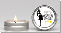 About To Pop Mommy Grey - Baby Shower Candle Favors