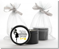 About To Pop Mommy Grey - Baby Shower Black Candle Tin Favors
