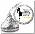 About To Pop Mommy Grey - Hershey Kiss Baby Shower Sticker Labels thumbnail
