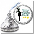 About To Pop Mommy - Hershey Kiss Baby Shower Sticker Labels thumbnail