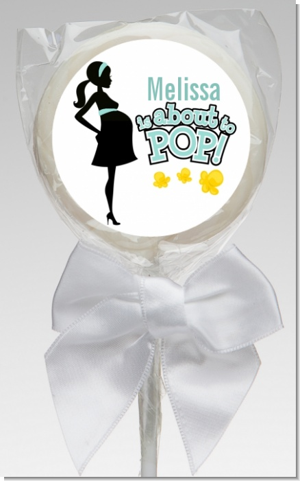 About To Pop Mommy - Personalized Baby Shower Lollipop Favors