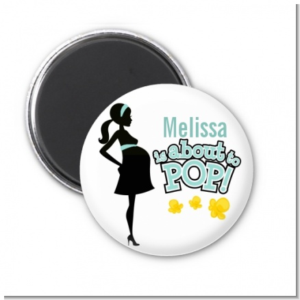 About To Pop Mommy - Personalized Baby Shower Magnet Favors