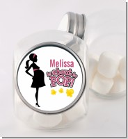 About to Pop Mommy Pink - Personalized Baby Shower Candy Jar