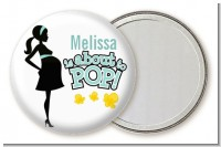 About To Pop Mommy - Personalized Baby Shower Pocket Mirror Favors