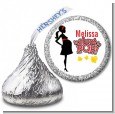 About To Pop Mommy Red - Hershey Kiss Baby Shower Sticker Labels thumbnail