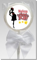 About To Pop Mommy Red - Personalized Baby Shower Lollipop Favors