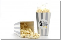 About To Pop Mommy Grey - Personalized Baby Shower Popcorn Boxes - Set of 12