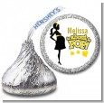 About to Pop Mommy Yellow - Hershey Kiss Baby Shower Sticker Labels thumbnail