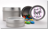 About To Pop Stripes - Custom Baby Shower Favor Tins