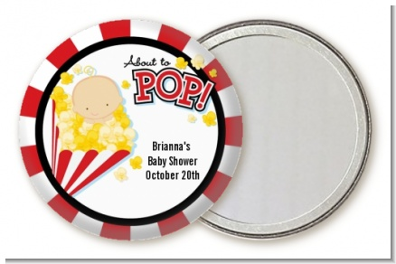 About To Pop - Personalized Baby Shower Pocket Mirror Favors