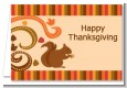 Acorn Harvest Fall Theme - Thanksgiving Thank You Cards thumbnail