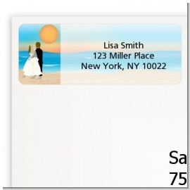 Beach Couple - Bridal | Wedding Return Address Labels