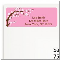 Cherry Blossom - Baby Shower Return Address Labels