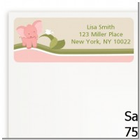 Elephant Baby Pink - Baby Shower Return Address Labels