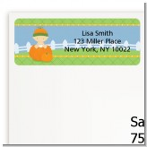 Pumpkin Baby Caucasian - Baby Shower Return Address Labels