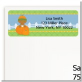Pumpkin Baby African American - Baby Shower Return Address Labels