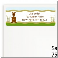 Kangaroo - Baby Shower Return Address Labels