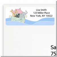 Noah's Ark Twins - Baby Shower Return Address Labels