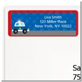 Police Car - Birthday Party Return Address Labels