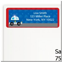 Police Car - Baby Shower Return Address Labels