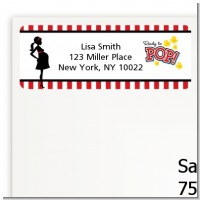 Ready To Pop - Baby Shower Return Address Labels