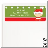 Christmas Baby Caucasian - Baby Shower Return Address Labels