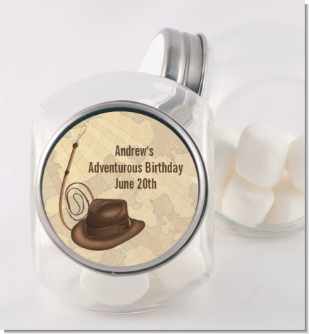 Adventure - Personalized Birthday Party Candy Jar