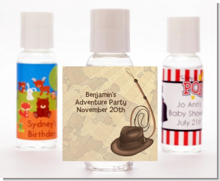 Adventure - Personalized Birthday Party Hand Sanitizers Favors