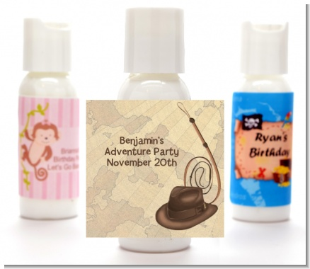 Adventure - Personalized Birthday Party Lotion Favors