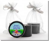 Airplane - Birthday Party Black Candle Tin Favors