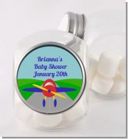 Airplane - Personalized Baby Shower Candy Jar