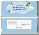 Airplane - Personalized Birthday Party Candy Bar Wrappers