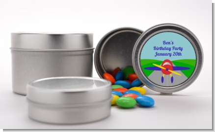 Airplane - Custom Baby Shower Favor Tins