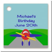 Airplane - Personalized Birthday Party Card Stock Favor Tags