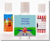 Airplane - Personalized Birthday Party Hand Sanitizers Favors