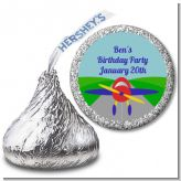 Airplane - Hershey Kiss Birthday Party Sticker Labels