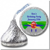 Airplane - Hershey Kiss Baby Shower Sticker Labels