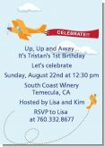 Airplane in the Clouds - Birthday Party Invitations
