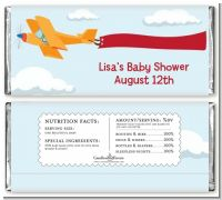 Airplane in the Clouds - Personalized Baby Shower Candy Bar Wrappers