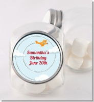 Airplane in the Clouds - Personalized Baby Shower Candy Jar
