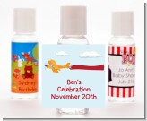 Airplane in the Clouds - Personalized Birthday Party Hand Sanitizers Favors