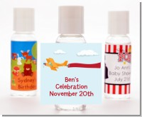 Airplane in the Clouds - Personalized Baby Shower Hand Sanitizers Favors