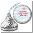 Airplane in the Clouds - Hershey Kiss Baby Shower Sticker Labels thumbnail