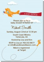 Airplane in the Clouds - Baby Shower Invitations