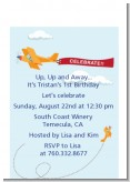 Airplane in the Clouds - Baby Shower Petite Invitations