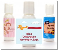 Airplane in the Clouds - Personalized Baby Shower Lotion Favors