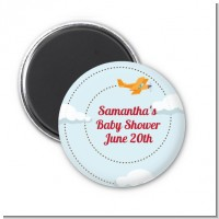Airplane in the Clouds - Personalized Baby Shower Magnet Favors