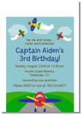 Airplane - Baby Shower Petite Invitations