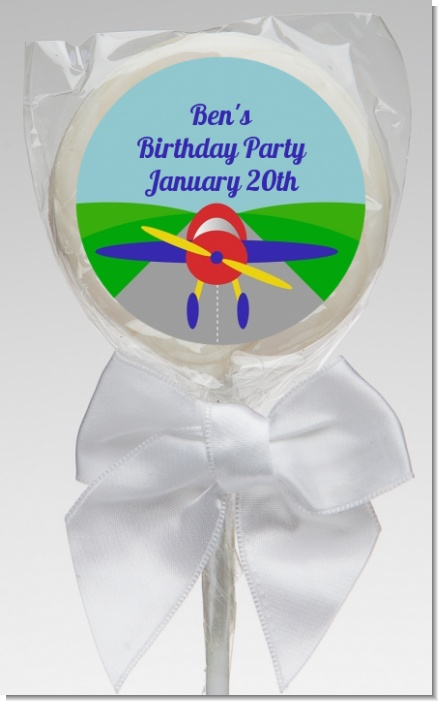 Airplane - Personalized Baby Shower Lollipop Favors